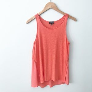 THE LIMITED Coral High Low Tank Top Sheer Back